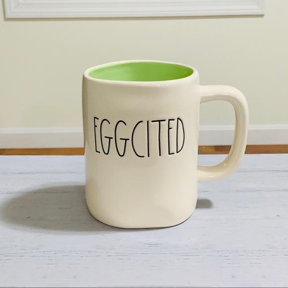 Rae Dunn EGGCITED mug